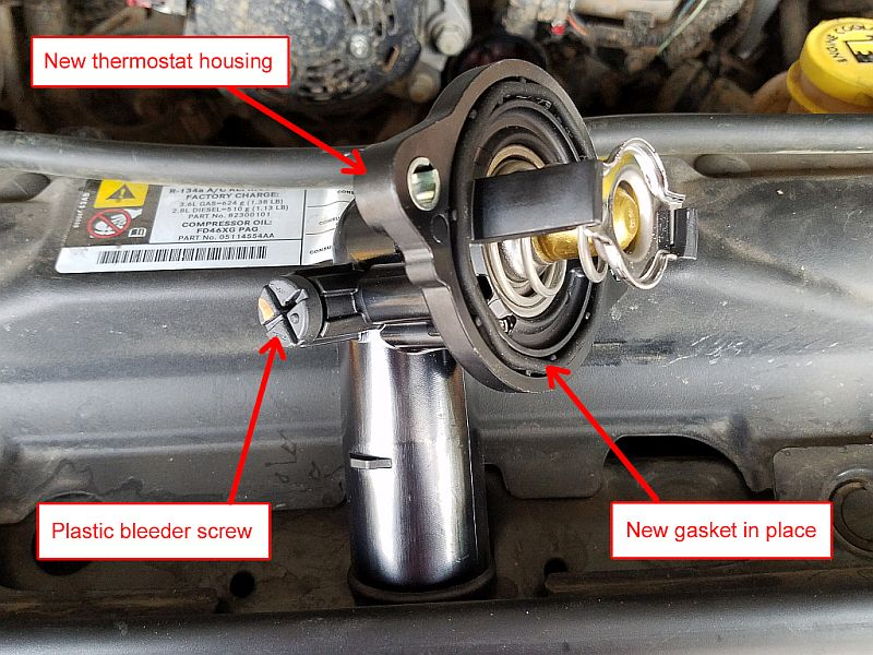 Jeep JK thermostat housing replacement