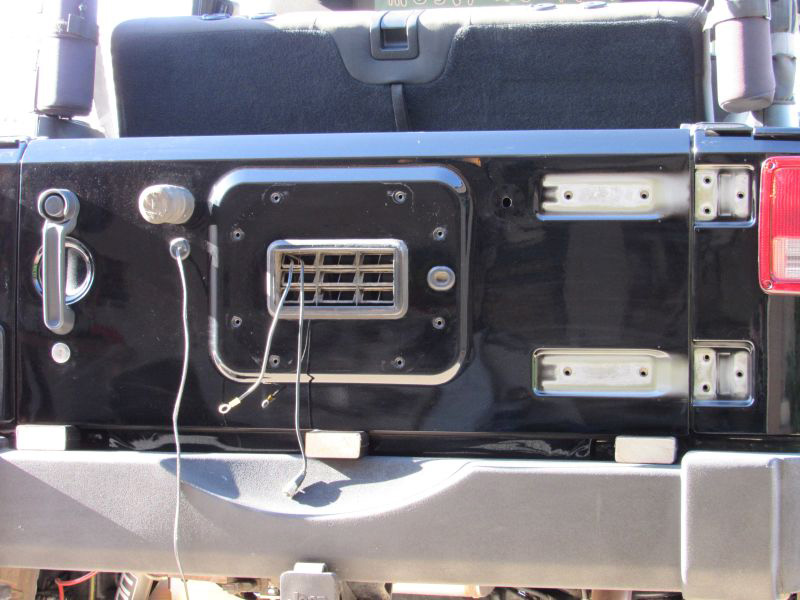 Jeep JK Tailgate Tire Carrier by Rugged Ridge