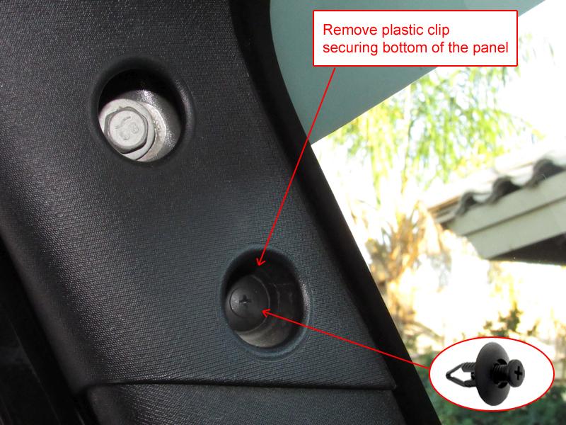 Jeep JK hidden garage door remote
