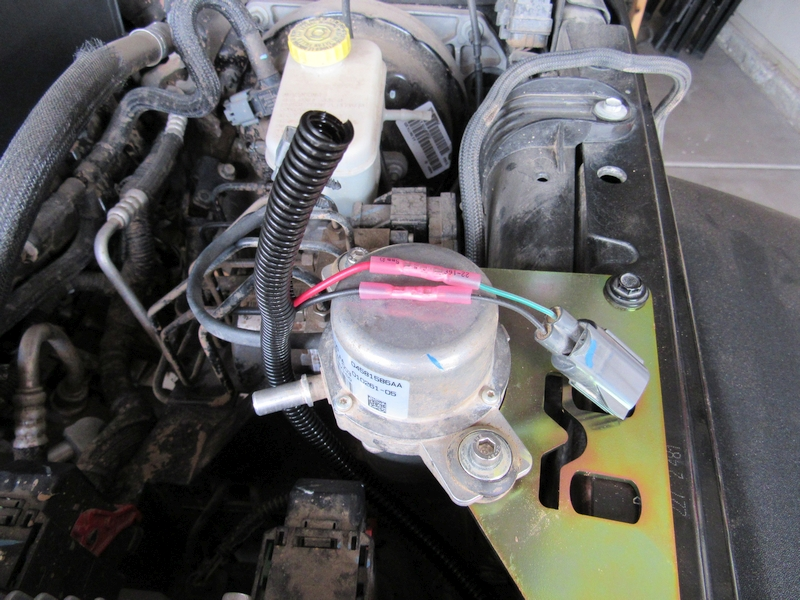 Jeep JK Vacuum Pump Relocation