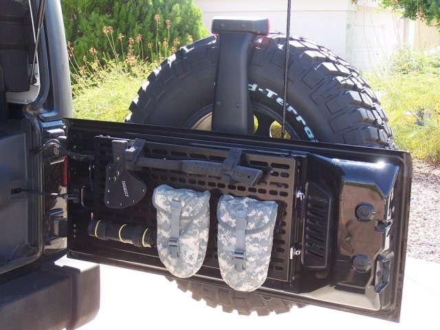 Jeep JK tailgate MOLLE panel & fold-down table