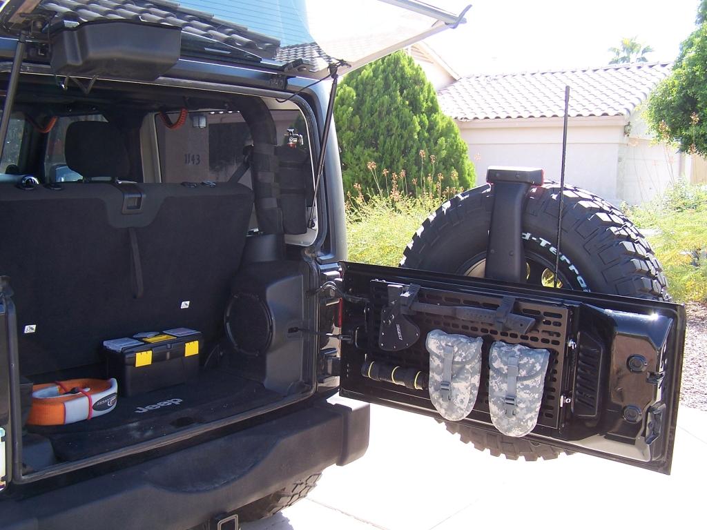 Jeep Jk Tailgate Panel Amp Fold Down Table Azoffroading Com