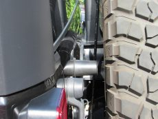 Jeep JK spare tire bump stop extensions