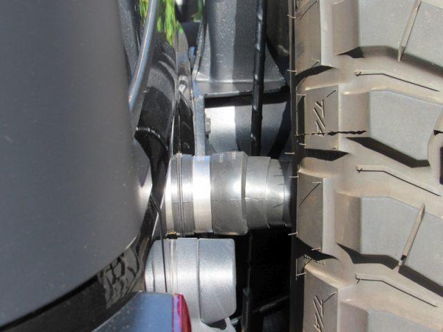 Jeep JK spare tire bump stop extensions